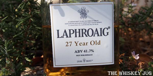 Laphroaig 27 Label