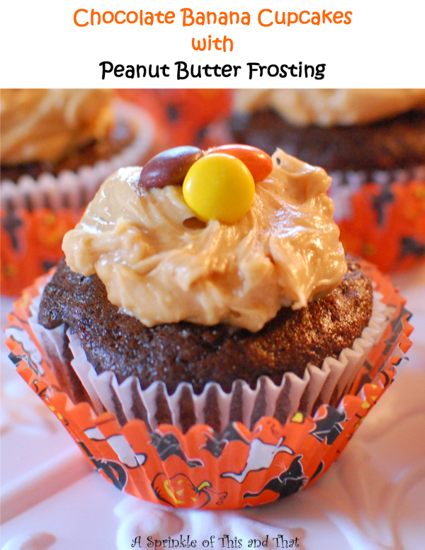 Chocolate Banana Cupcakes with Peanut Butter Frosting by A ...
