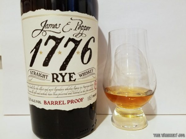 James E Pepper Barrel Proof Rye Color