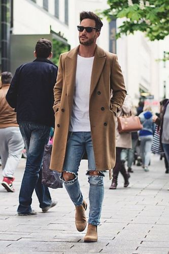 Man in trench coat
