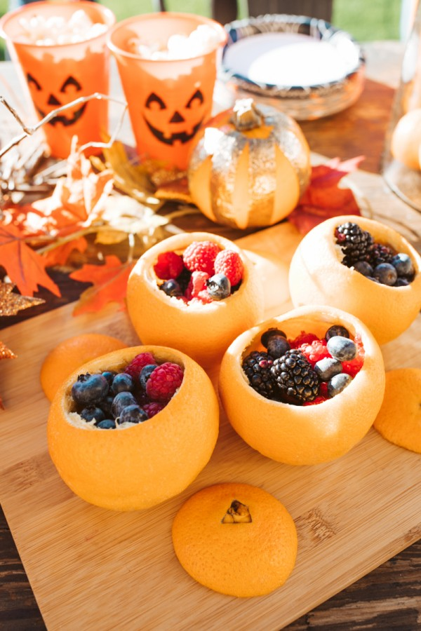 fruit cups for halloween