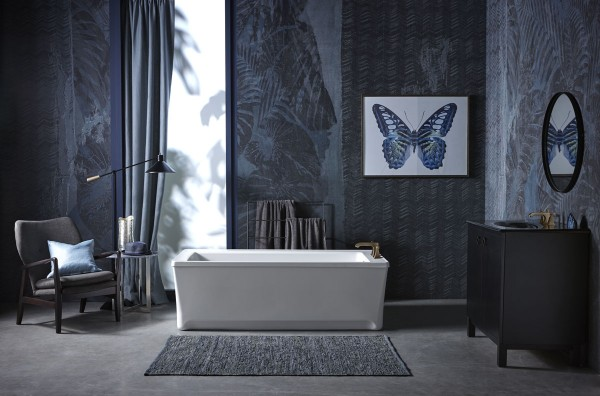Archer freestanding bath    Memoirs Stately bath faucet trim    Taking its design cues from traditional Craftsman furniture, the Archer® freestanding bath breathes fresh life into a classic design for a timeless appeal.