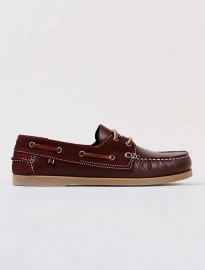 Topman Canister Mix Burgundy Boat Shoes