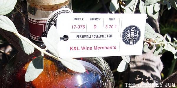 Russell's Reserve Single Barrel Bourbon 376 Label
