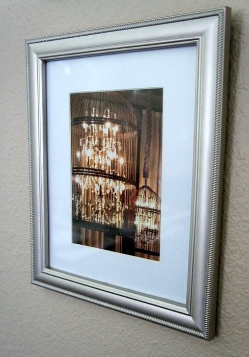 DIY framed Restoration Hardware catalog page