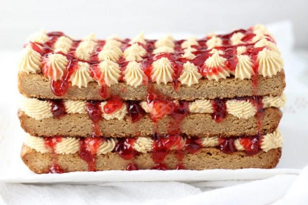 Peanut Butter & Jelly Torte Photo
