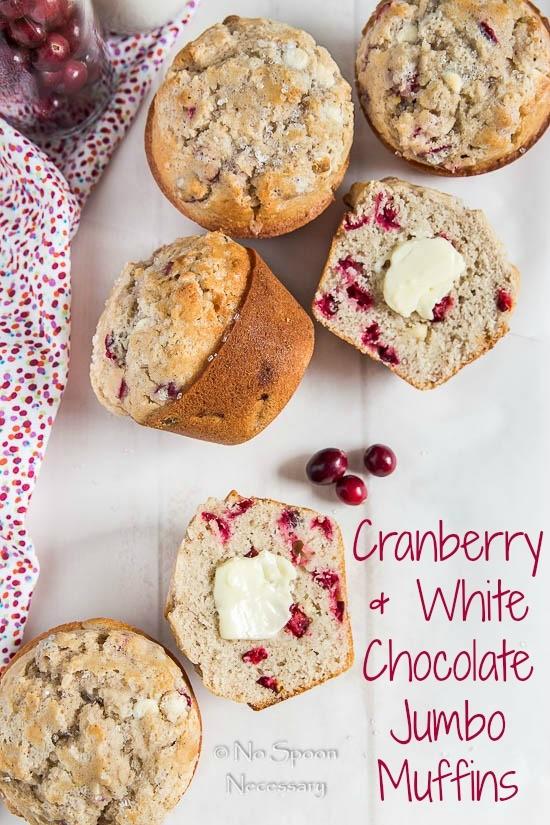 Cranberry & White Chocolate Jumbo Muffins - short pin