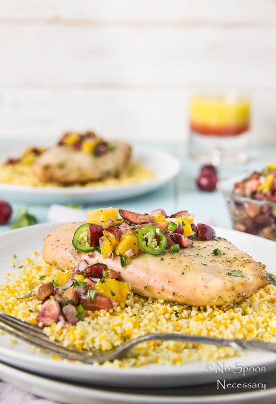 Tequila Sunrise Chicken with Cherry-Orange Salsa-146