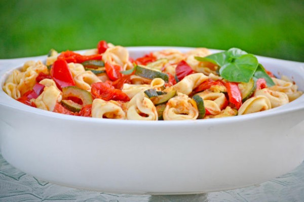 Roasted Vegetable Tortellini Photo