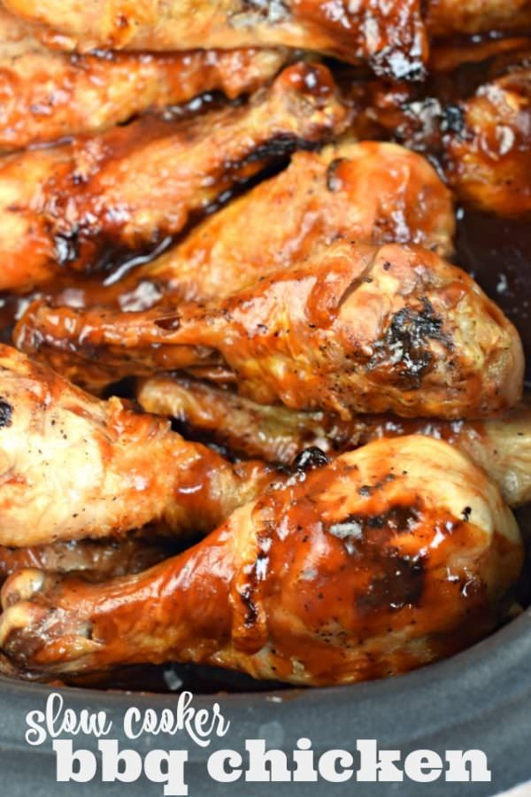 ... chicken in your crockpot with this easy Slow Cooker BBQ Chicken recipe
