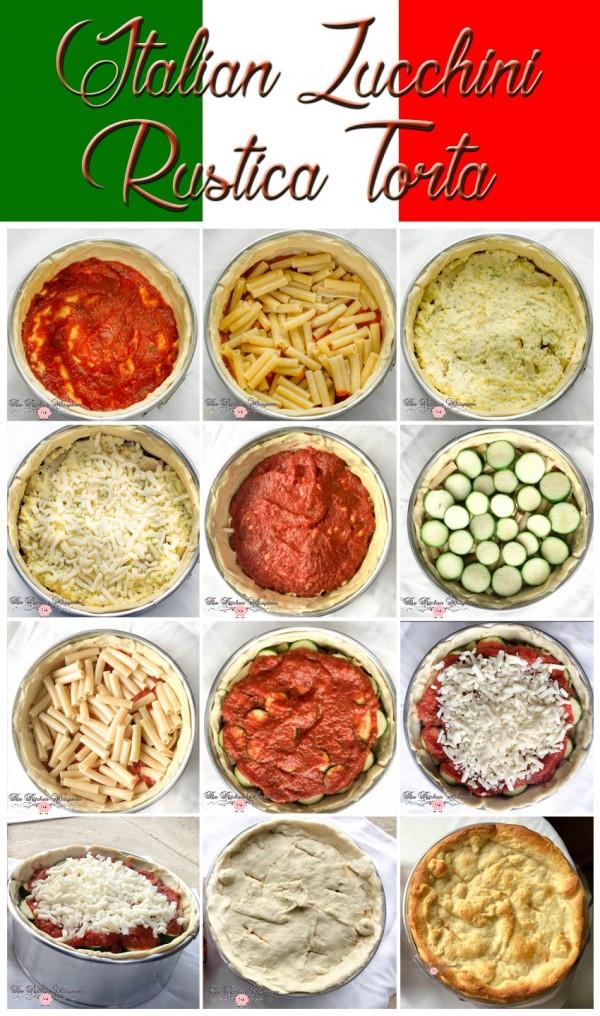 Italian Zucchini Rustica Collage