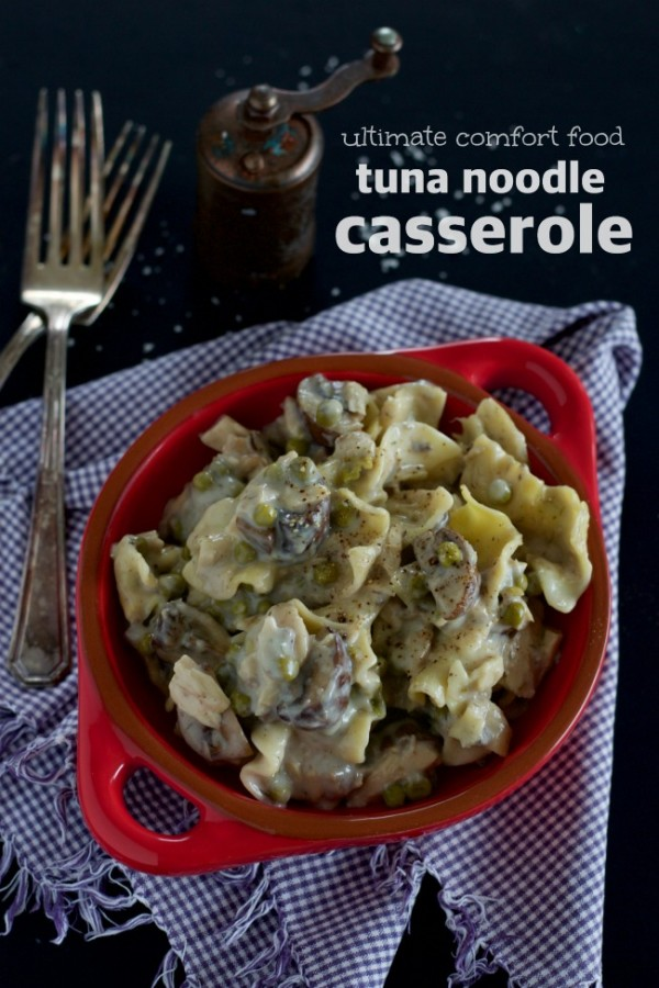 ultimate comfort food, tuna noodle casserole