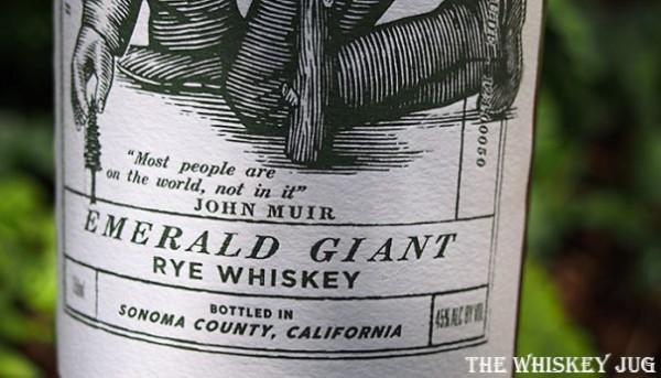 Emerald Giant Rye Details (price, mash bill, cask type, ABV, etc.)