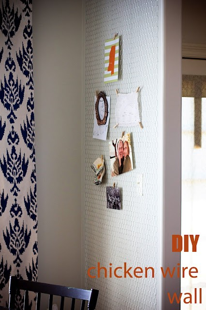 DIY chicken wire wall