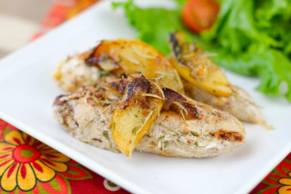 Pan-Seared Apple Chicken Photo