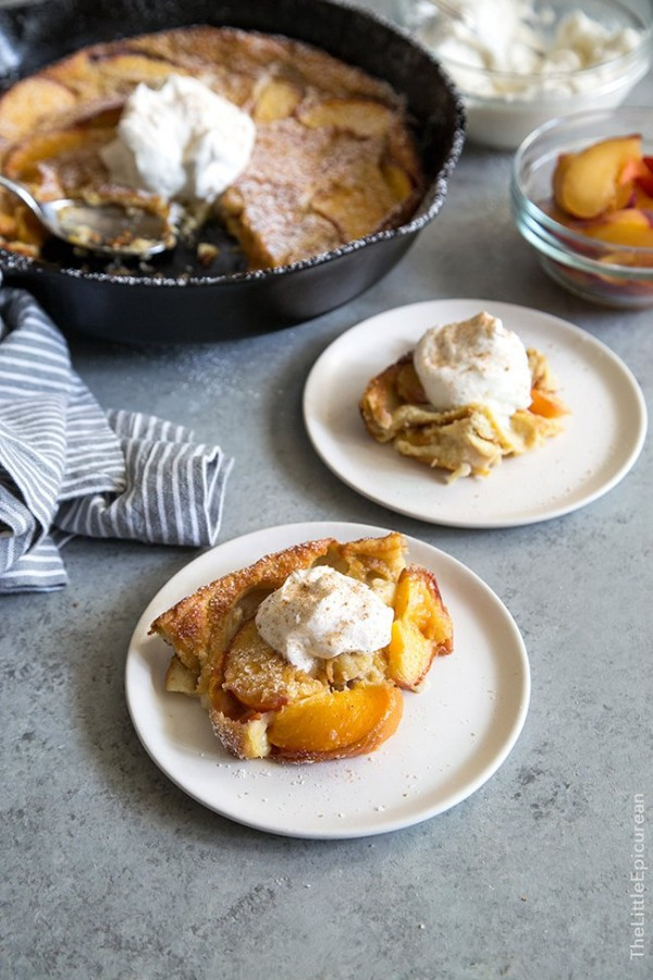 Whiskey Peach Clafoutis | The Little Epicurean