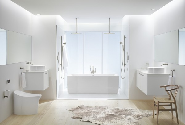 The white on white bathroom trend 3 ways to get inspired for White bathrooms 2016