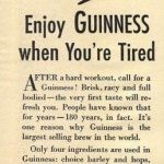 guinness newspaper ad from 1939