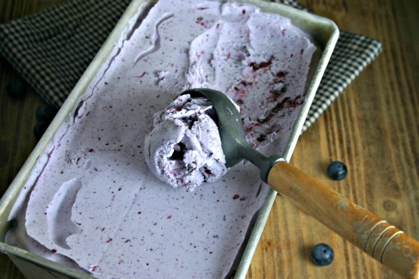 No Churn Blueberry Ice Cream | Life, Love, and Good Food