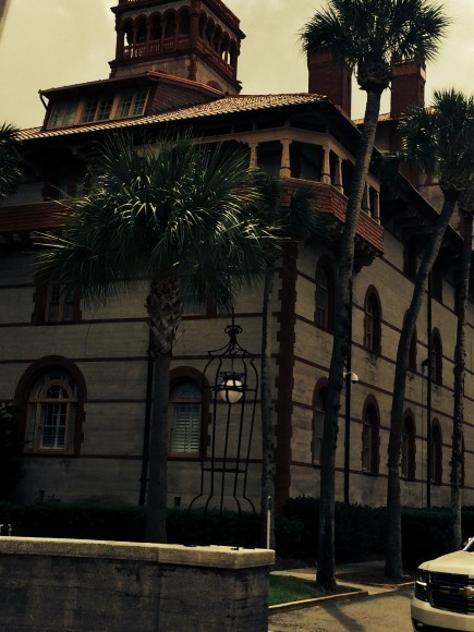 St Augustine Spanish architecture building Flagler College angle close up