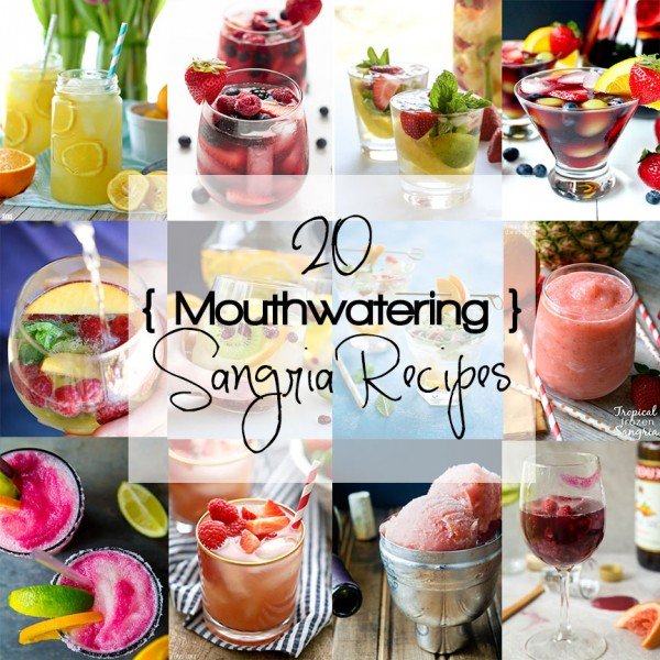 Beat the summer heat with 20 Mouthwatering Sangria Recipes! Tropical Sangria to Sangria Swirled Margaritas. Something to suit every tastebud. Cheers!
