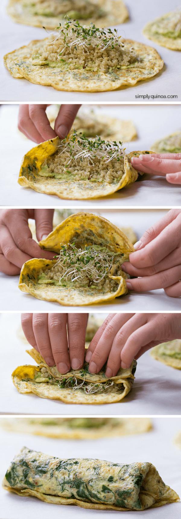 Herbed Quinoa Breakfast Wraps