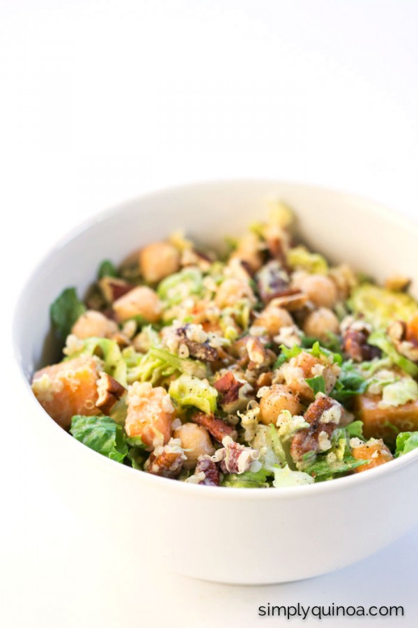 Autumn Chopped Quinoa Salad with Apple Cider + Tahini-Sage Dressing by ...
