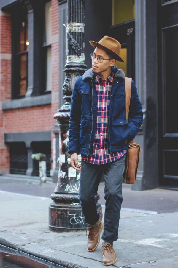 how to wear plaid for men