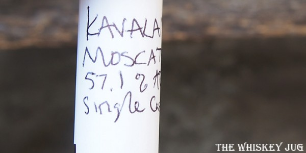 Kavalan Solist Moscatel Sherry Label