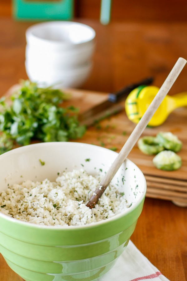 Coconut Milk Rice with Cilantro Lime