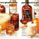bacardi rum spirits ad 1984