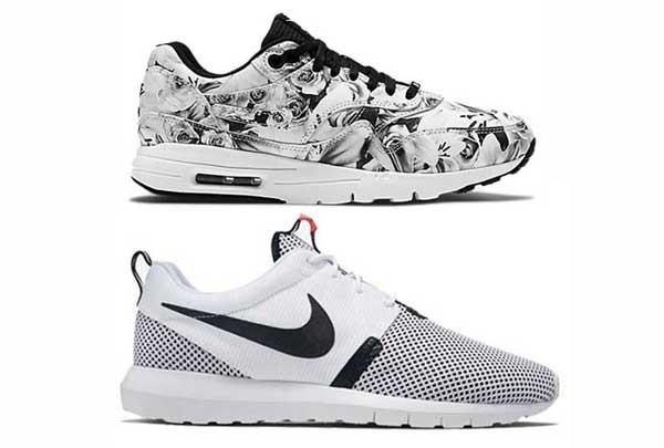 Nike Roshe White Black Main