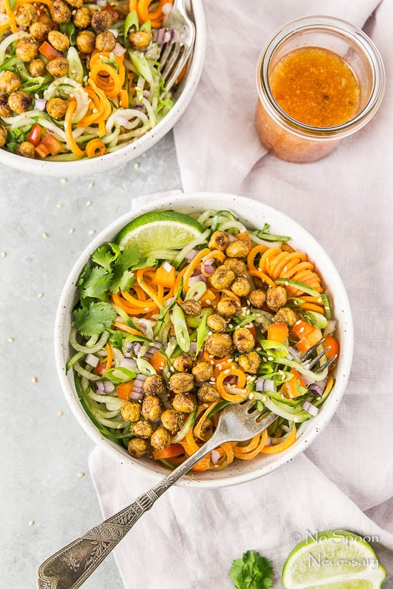 Thai Roasted Crispy Chickpeas with Cucumber & Carrot Noodle Salad-163