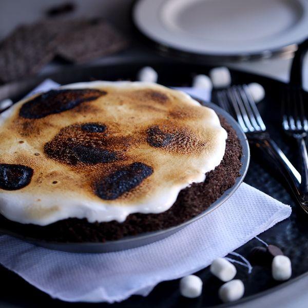 Double Chocolate No Bake S'mores Pie   Melanie Makes
