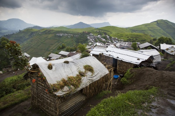 Shelters in Katale, DRC