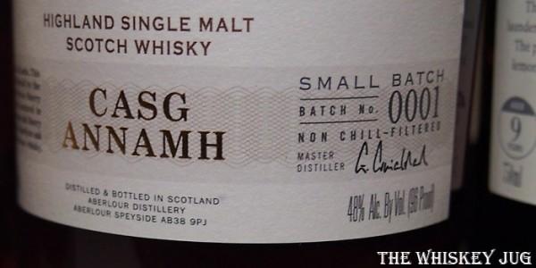 Aberlour Casg Annamh Label