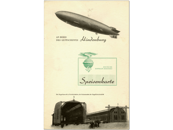 Front Cover Hindenburg Wine Menu