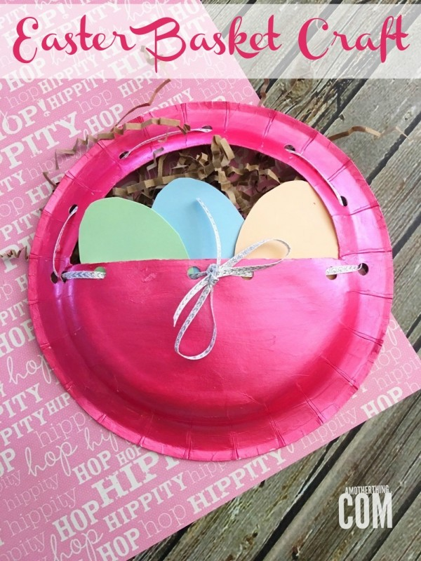 Paper Plate Easter Basket Craft | A Mother Thing & Paper Plate Easter Basket Craft | TODAY.com