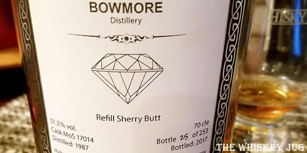 1987 Malts Of Scotland Bowmore 30 Years Label