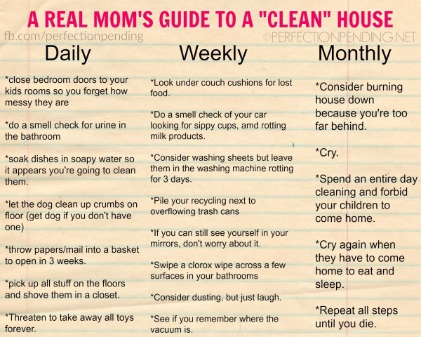 How real moms keep the house clean How to keep house clean
