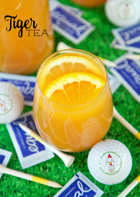 Tiger Tea - tea, lemonade, orange juice sweetened with Equal®. SO refreshing and delicious. It is the perfect summer drink! It makes a ton - great for parties! Everyone loves this kicked up sweet tea! #EmbraceYourTaste