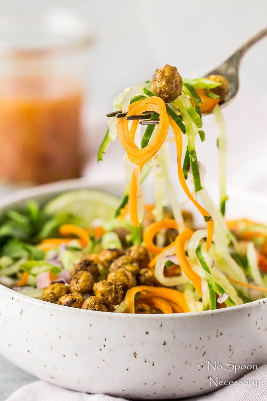 Thai Roasted Crispy Chickpeas with Cucumber & Carrot Noodle Salad-189