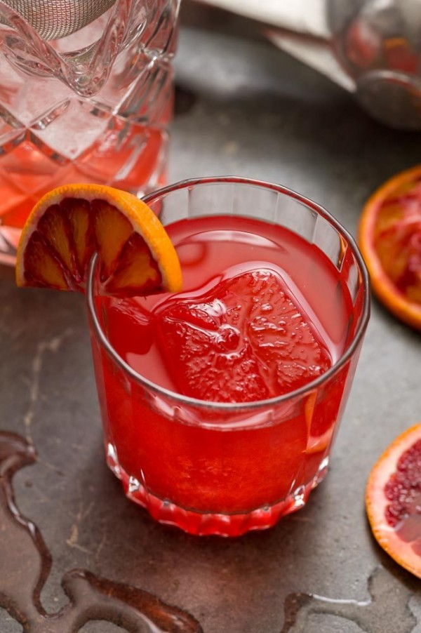 Blood Orange & Rye Whiskey Cocktail