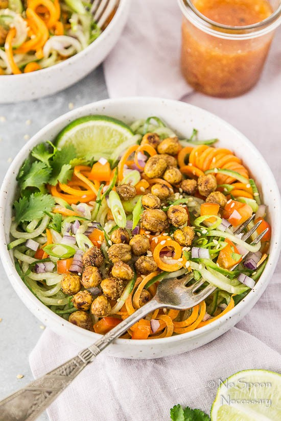 Thai Roasted Crispy Chickpeas with Cucumber & Carrot Noodle Salad-169
