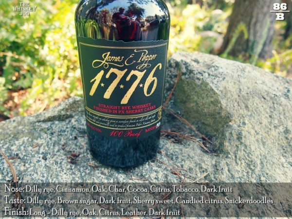 James E Pepper 1776 Rye Finished in PX Sherry Casks Review