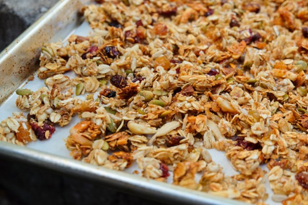 Baked chewy granola on eatlivetravelwrite.com