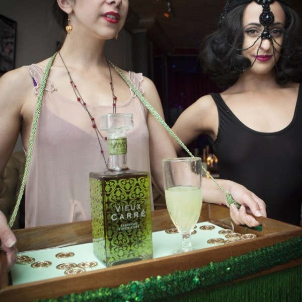 Green Fairy party sponsored by Vieux Carre photographed by Rose Callahan at the Red Room in NYC on Oct 6, 2016