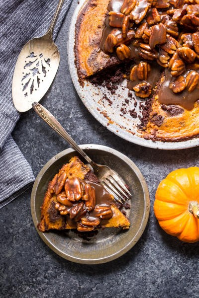Bourbon Brownie Pumpkin Pie Pic