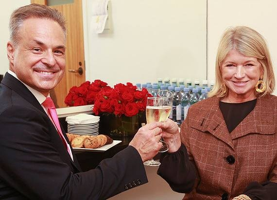 "Clint Arthur and Martha Stewart backstage during ""Living Legends of Entrepreneurial Marketing"" at Carnegie Hall"