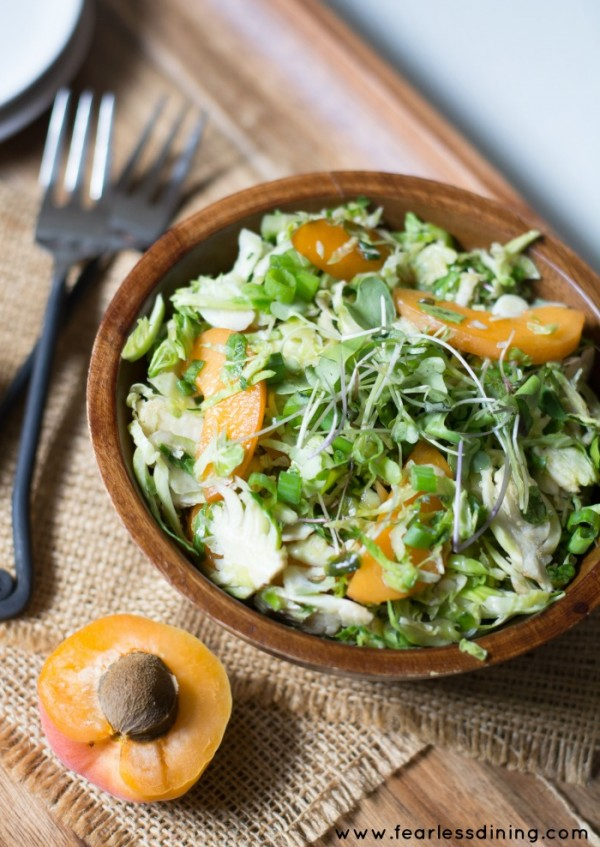 Shaved Brussels Sprout and Apricot Salad hero